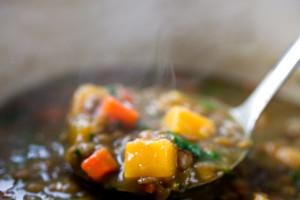 Lentil Stew With Pumpkin