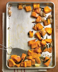 Roasted Pumpkin with Shallots and Sage