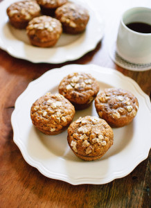 Maple-Sweetened Pumpkin Muffins with Oats