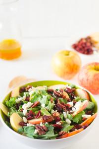 Apple, Pecan & Feta Salad with Honey Apple Dressing