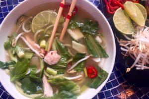 Gluten-Free, Grain-Free Chicken Pho with Cucumber Noodles
