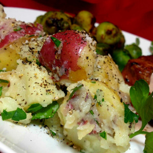 Salt and Pepper Parsley Potatoes