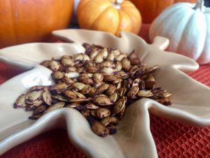 Spiced Roasted Pumpkin Seeds or Acorn Squash Seeds