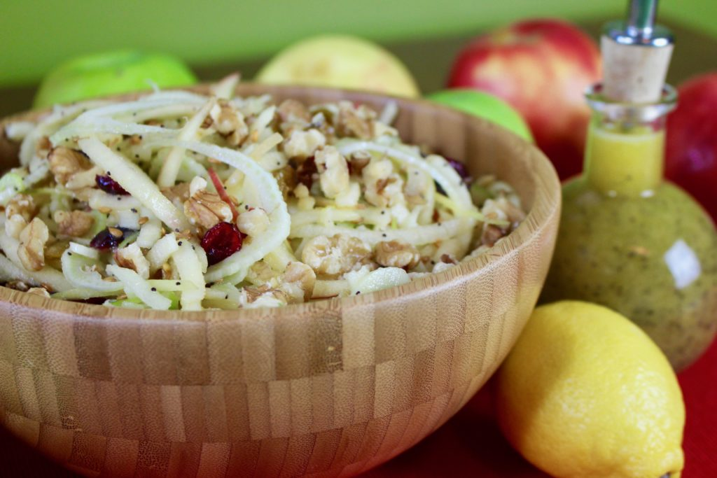 Spiralized Apple Fennel Salad with Dressing
